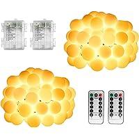 WOWDSGN Guirnaldas Luces Exterior Pilas Blanco Cálido, 7.5M 60LED Luces de Navidad con Batería, 8 Modos de Luces de Bola…