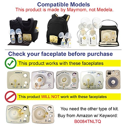Breast-Pump-Kit-for-Medela-Pump-in-Style-Advanced-Breastpump-Includes-2-Tubing-2-Breastshields-25-mm-Medium-4-Valves-6-Membranes-Replacement-Kit-for-Medela-Pump-Parts-Made-by-Maymom