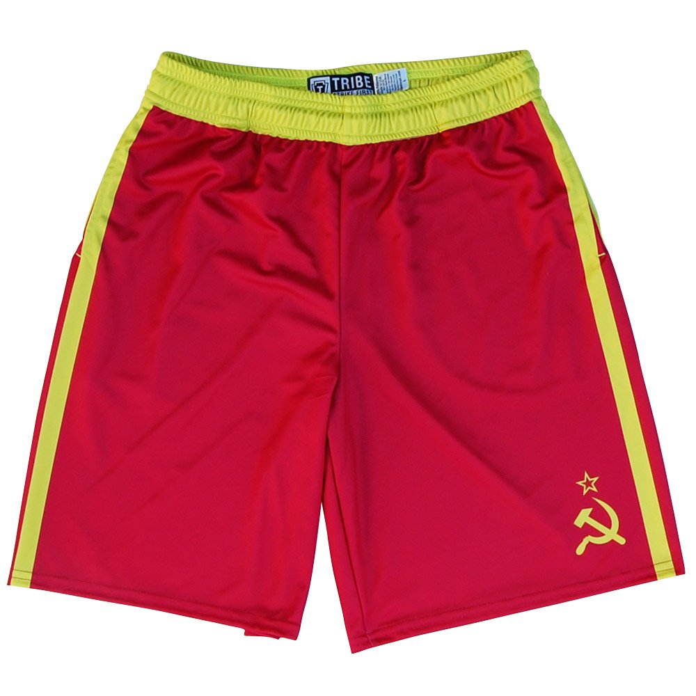 Drago Lacrosse Shorts, Red, Adult Medium