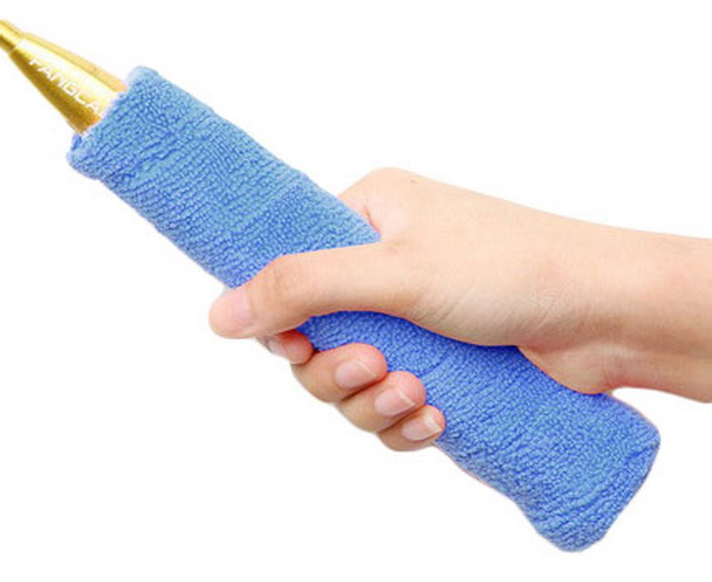 Manivelle de badminton–Tennis, badminton Serviette de gel pour les mains –-Azure Blancho Bedding