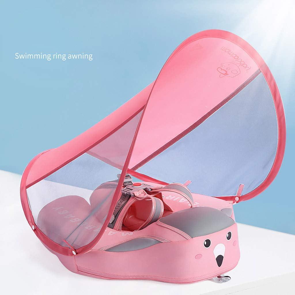 Nicht aufblasbarer Babyschwimmer mit Sicherheitsschnalle und abnehmbarem Sonnenschirm Gr/ün Schwimmring Pool schwimmt Sicherer Trainer seit /über 3 Monaten Kleinkinder Kleinkinder