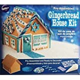 Chanukah (Hanukkah) Blue & White Winter Gingerbread House Wilton Pre-baked Holiday Gingerbread Kit with Candy