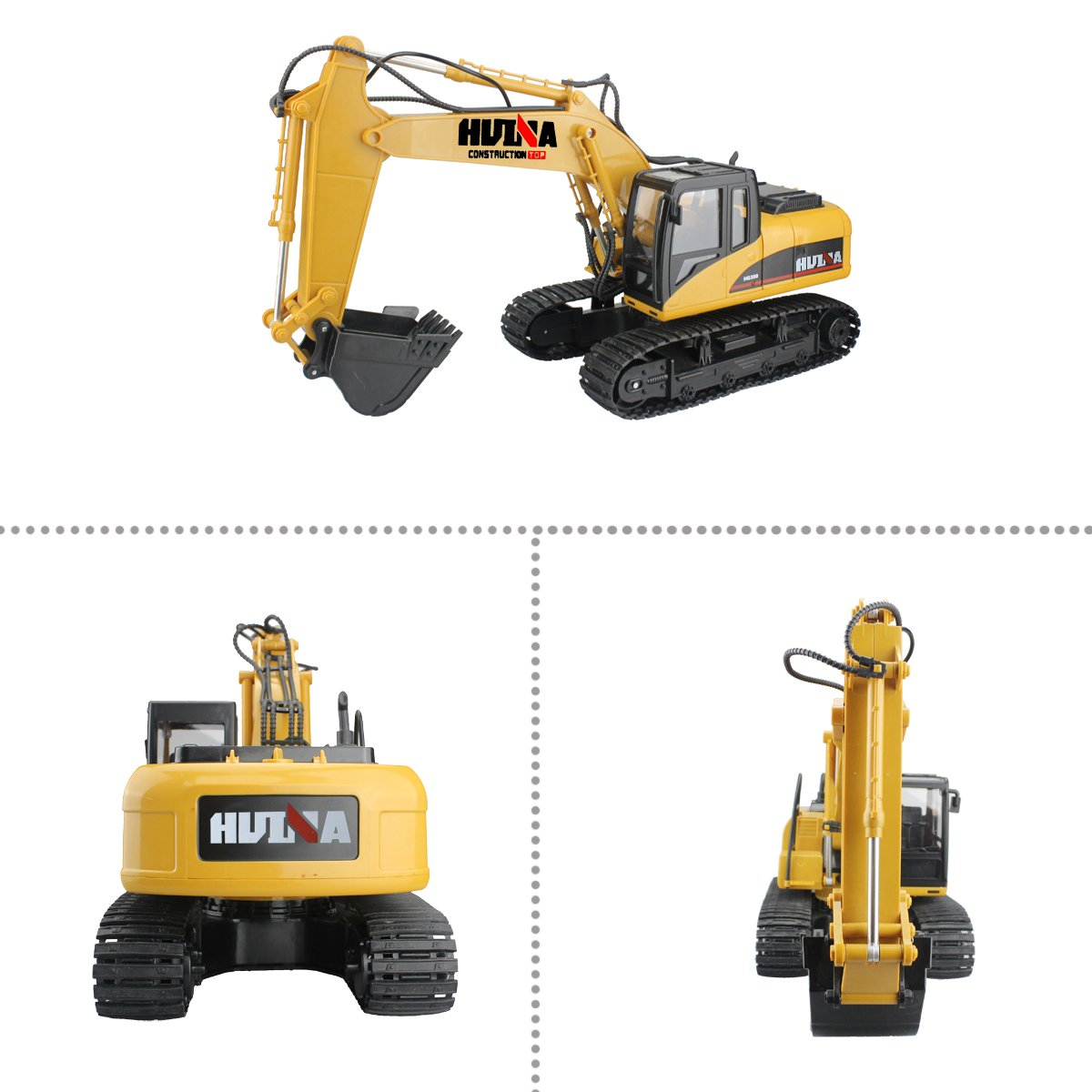 RC Truck Remote Control Excavator Crawler Tractor 15 Channel 2.4G Construction Vehicle Digger Electronics Hobby Toys with Simulation Sound and Flashing Lights by fisca (Image #7)