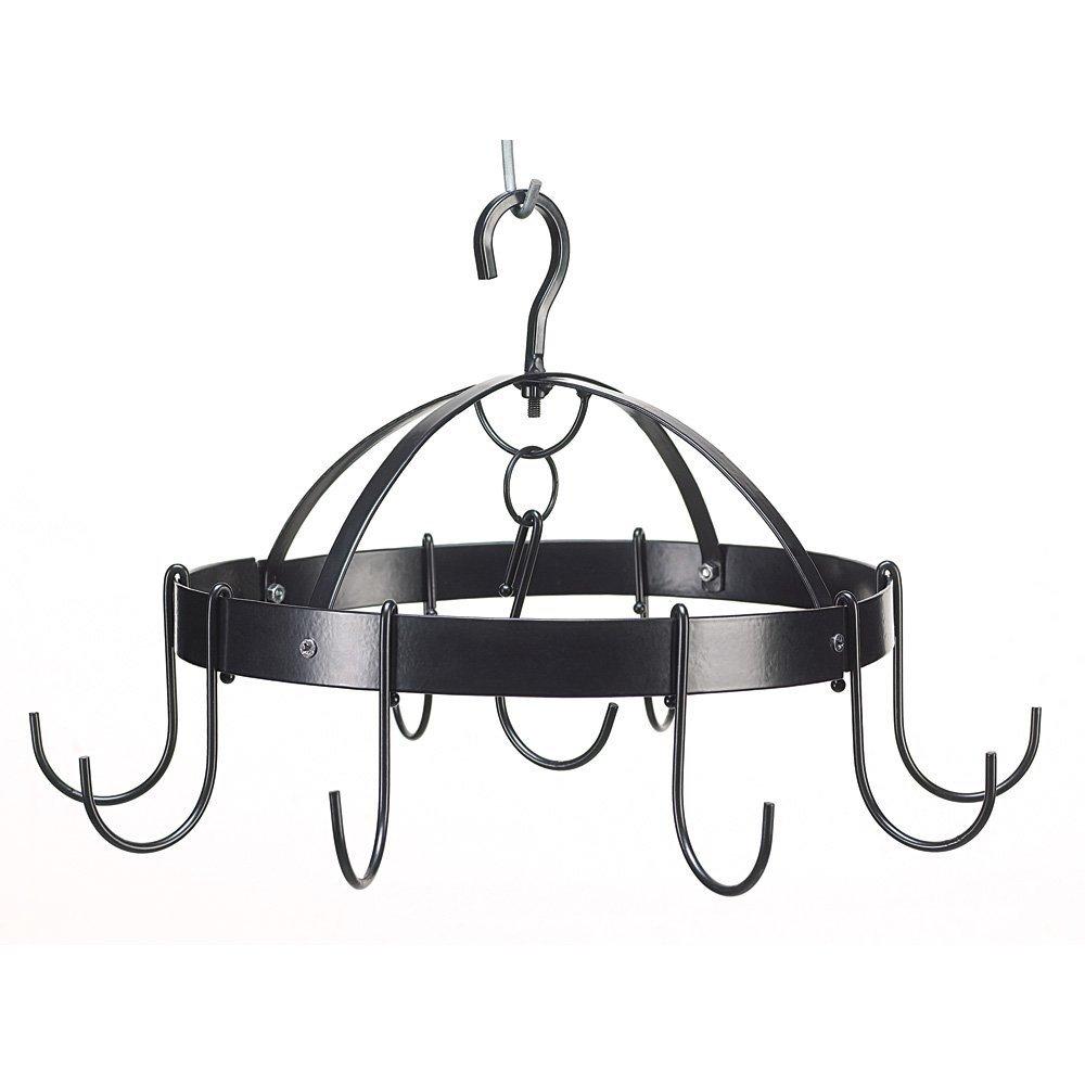 Pot And Pan Hanging Rack, Hanging Pot Rack Black, Overhead Mini Round Pot Hanger