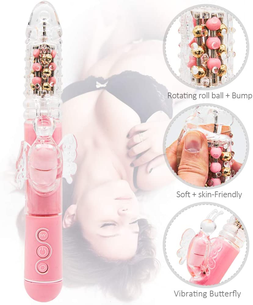 Portable Wireless Tongue Sucking Multi-Speed G-spot Clítoris Vitality Toy Suction Cup 7-Speed Vibration and Suction Massage, Women Relax