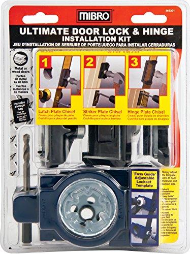(MIBRO 366301 Ultimate Door Lock and Hinge Installation Kit for Metal Doors)
