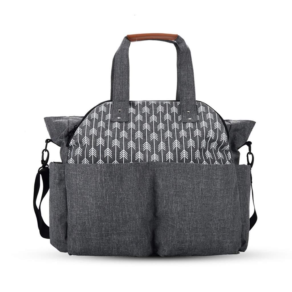 C-Xka 矢印デザイン ファッション おむつバッグ トートバッグ サッチェルメッセンジャー 多機能 大容量 防水 傷防止 おむつバックパック B07GXJDQ1D