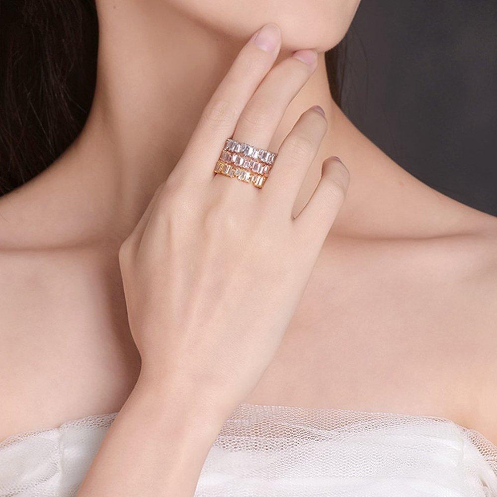 Amazon.com: YoGe Fashion AAA cubic zirconia Baguette ring, shinning ...