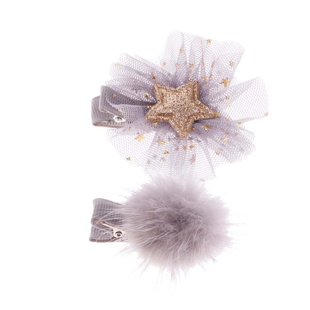 Sharplace 1Pcs Mini Pince /à Cheveux Style Papillon pour Enfants Bas Age Gris
