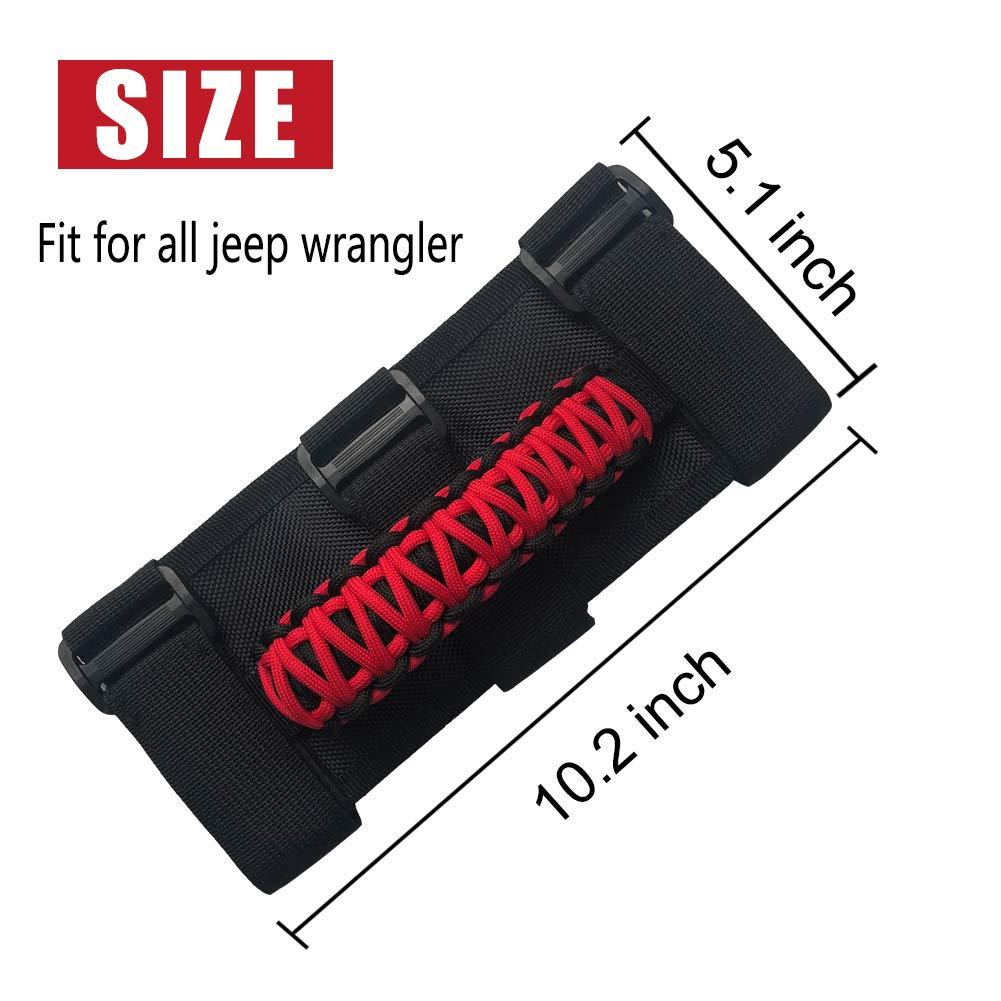 2 Pack Sukemichi Jeep Wrangler Roll Bar Grab Handles,Grab Grip Handle For Jeep Wrangler YJ TJ JK JK JL JLU Sports Sahara
