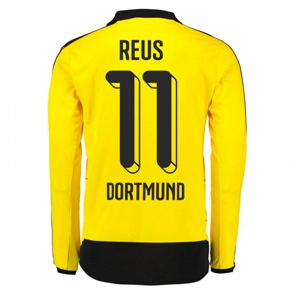 2015-16 Dortmund Home Long Sleeve Shirt (Reus 11) Kids B077VMHXV4Yellow Medium Boys 26-28\