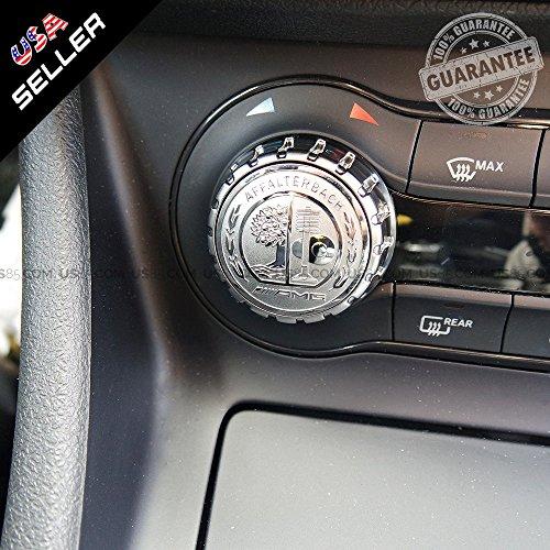 Mercedes-Benz Car AMG Style Interior Multimedia Control Decal Sticker Badge Decoration Logo