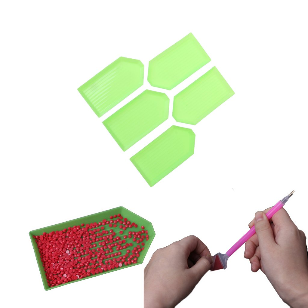 Bettal 5 Pcs Bead Sorting Trays Embroidery Diamond Plates, 3.54×1.85in 3.54×1.85in 4336813182