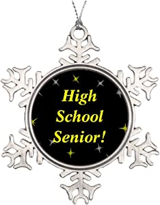Ai Vion Personalised Christmas Tree Decoration High School Senior! Outdoor Christmas Snowflake Ornaments