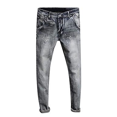 Ansenesna Pantalones Hombre Verano Cortos Moda Vaqueros del ...