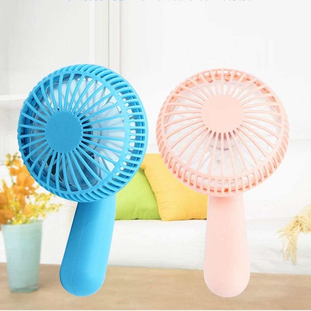 Color : Blue HandFan USB Charging Student Dormitory Rotatable Handheld Mini Fan Portable Small Table Fan