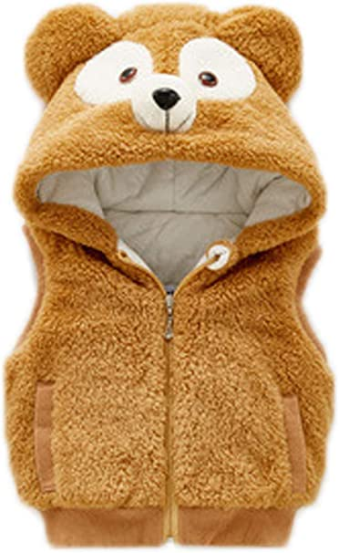 New Womens Tan Faux Fur Festival Gilet Sleeveless Vest Wasitcoat Size Small