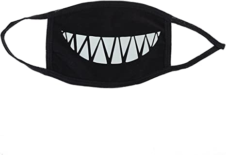 Unisex Ultnice Mask Mouth Face Teeth With Luminous Anti-dust