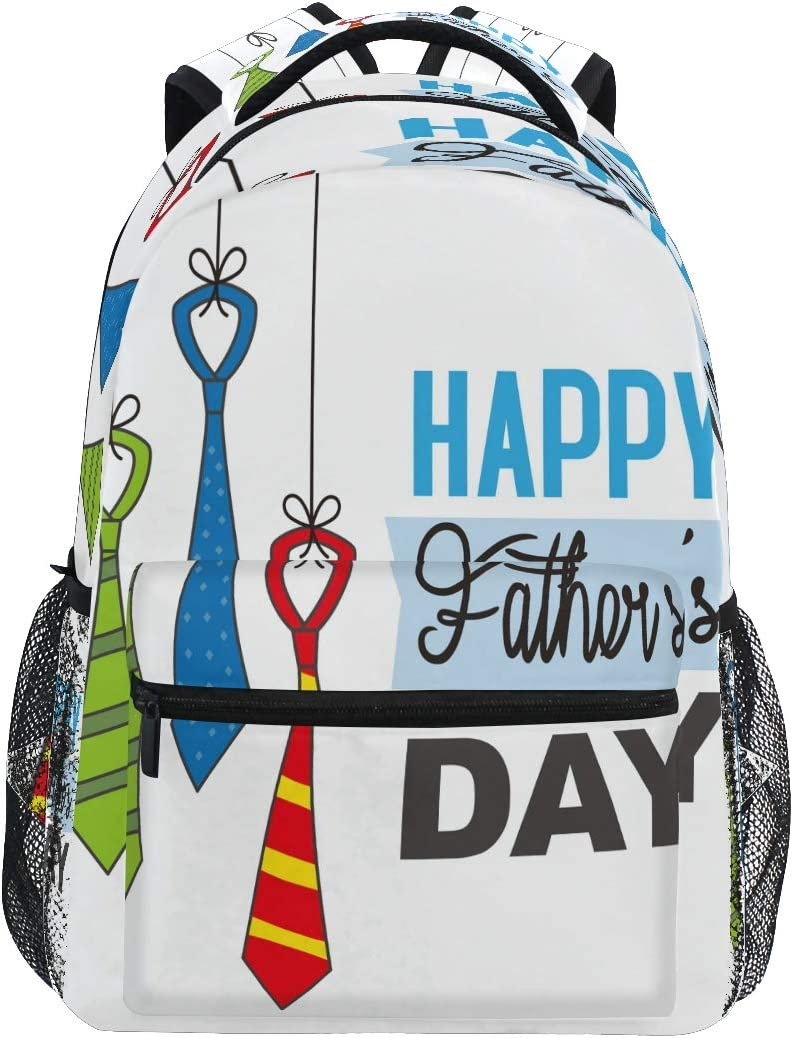 XIXIKO - Mochila con diseño de corbata para el día del padre, mochila de viaje al aire libre, para mujeres, hombres, niños, niñas, deportes, gimnasio, senderismo, camping, mochila