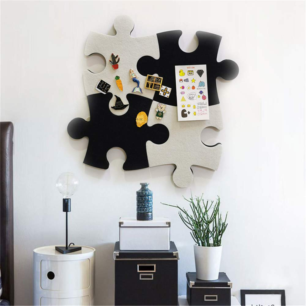 Black Phoetya Felt Pin Board Hexagon Self Adhesive DIY Memo Board Notice Board Photo Message Display Board for Home and Office with 32 Push Pins