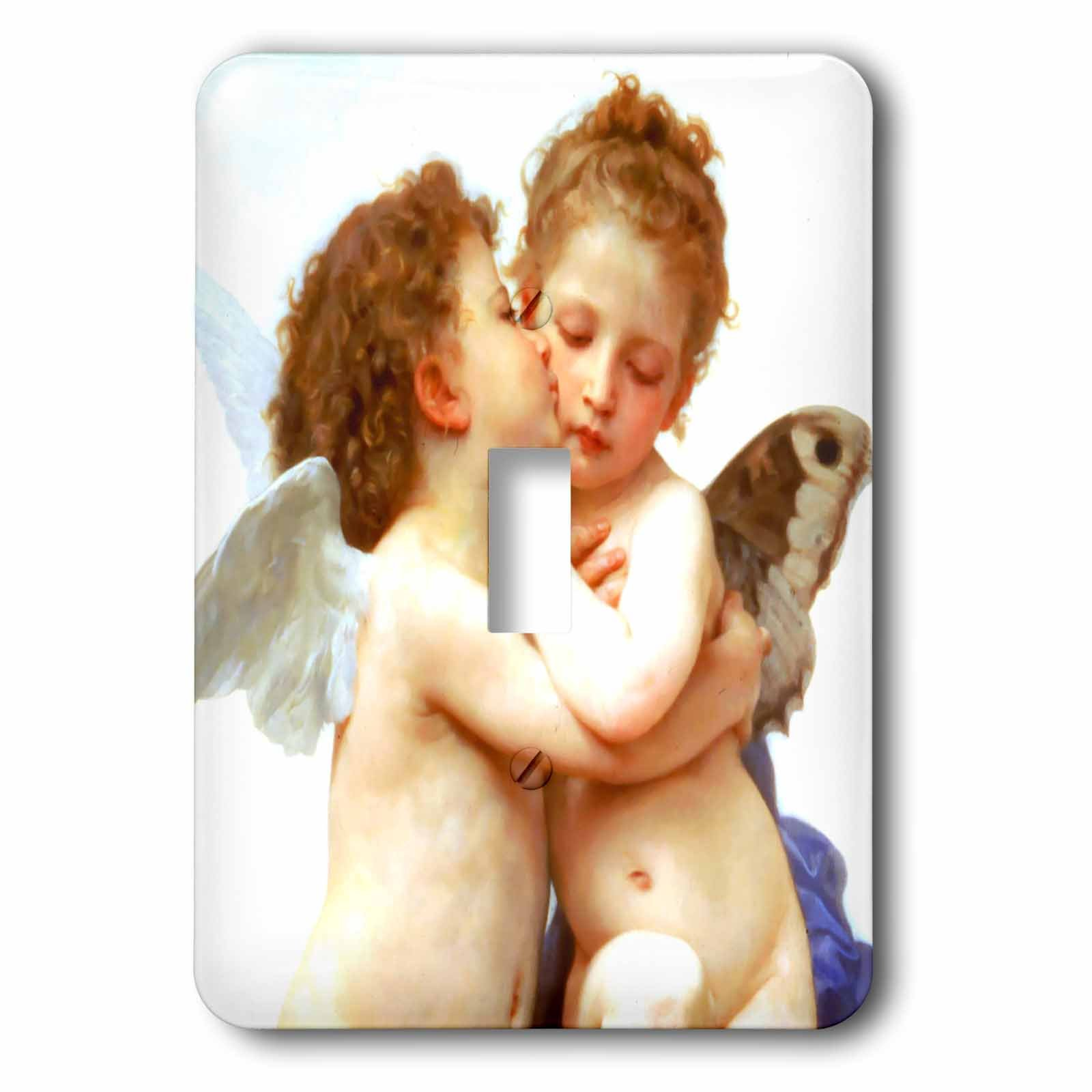 3dRose LLC lsp_155624_1 Cupid and Psyche As Children 1890 L Amour Enfants Bouguereau Baby Angel Cherubs Kiss Classic Single Toggle Switch