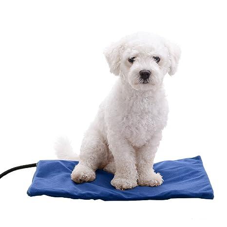 Mascota Perro cuadrado cama de calefacción eléctrica calefacción Mat con funda desmontable para pequeño mediano Perros