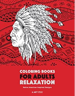 Native American Coloring Book For Adults: Beautiful One Sided ...