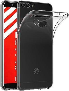 AICEK Funda Huawei P Smart, Transparente Silicona Fundas para ...