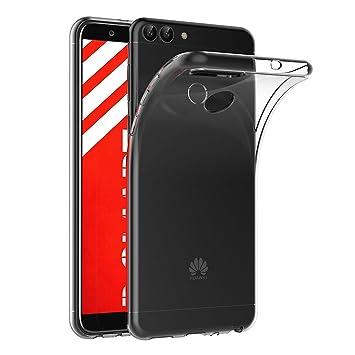 AICEK Funda Huawei P Smart, Transparente Silicona Fundas para Huawei P Smart Carcasa Silicona Funda Case (5,65 Pulgadas)