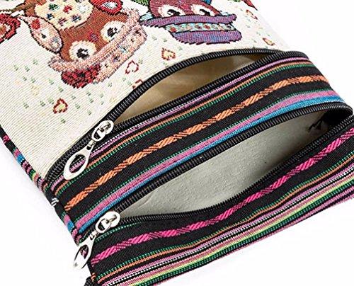 Postman Messenger Embroidered Girls C Women Bags Owl Bag Package Small Shoulder LILICAT Strap with Bag Handbags Women's Fashion Tote ZtwqnI5U