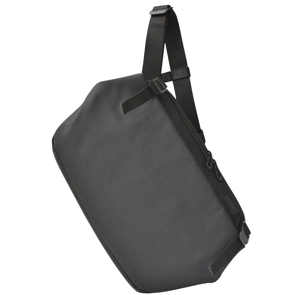 Cote&Ciel (コート エ シェル) リス エコヤーン バックパック メッセンジャーバッグ 鞄 バッグ バック ショルダーバッグ 日本限定 グレー ブラック 黒 メランジ デザイン フリーサイズ ブラック B01CE31DN8
