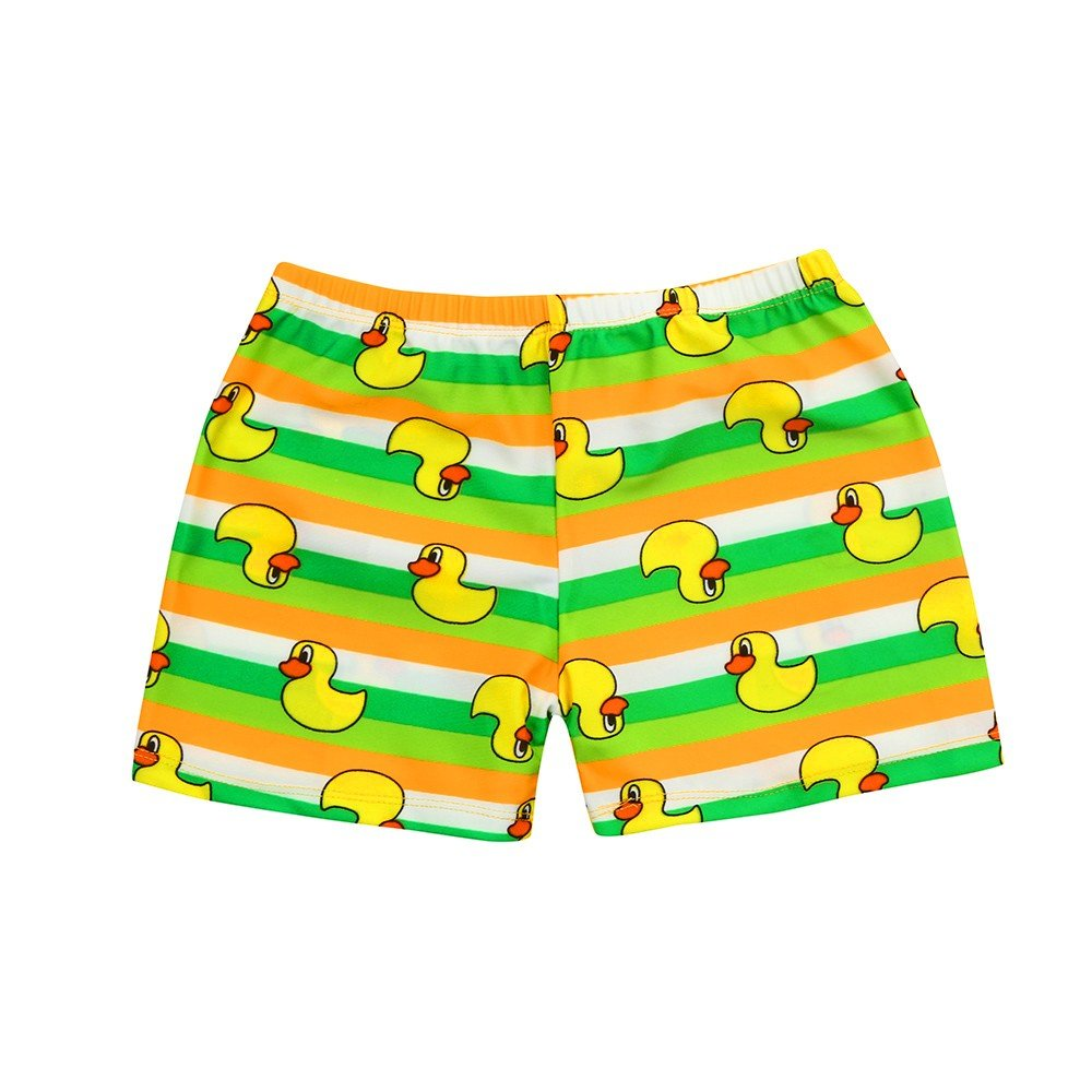 ❤️ Mealeaf ❤️ Kid Children Boys Cartoon Print Stretch Beach Swimsuit Swimwear Pants Shorts(24M-8T)