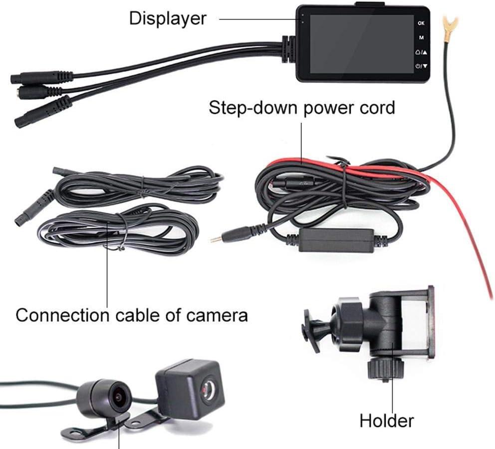 G-Capteur TARTIERY 1080p Moto Locomotive Conduite Enregistreur Avant Et Arri/ère Double Objectif Imperm/éable V/élo Cam/éscope,Livr/ée avec Cam/éra /Étanche Enregistrement en Boucle,D/étection De Mouvement