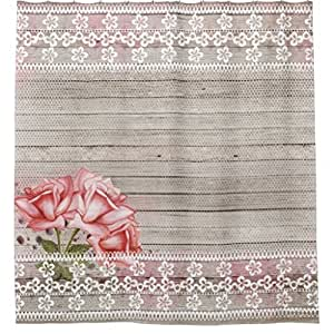 """Beautiful Shabby Chic Country Shower Curtain 60"""" x 72"""" Large Size Fashion Curtain."""