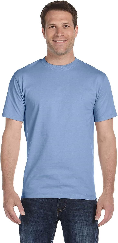 Hanes Men's Comfortsoft T-Shirt, 2 Light Blue / 2 Light Steel, L (Pack of 4)