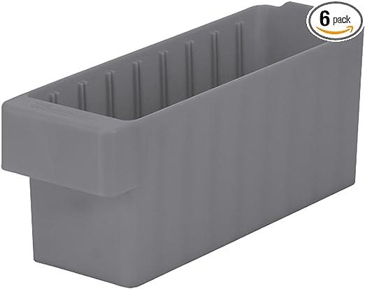 Akro-Mils 41460 Divider for 31162 and 31168 AkroDrawer Plastic Storage Drawer Black Pack of 6