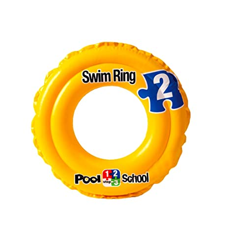 AMINSHAP Inflatable Swim Ring Yellow Letters Niños Axila Flotador Doble Cámara de Aire 3-6