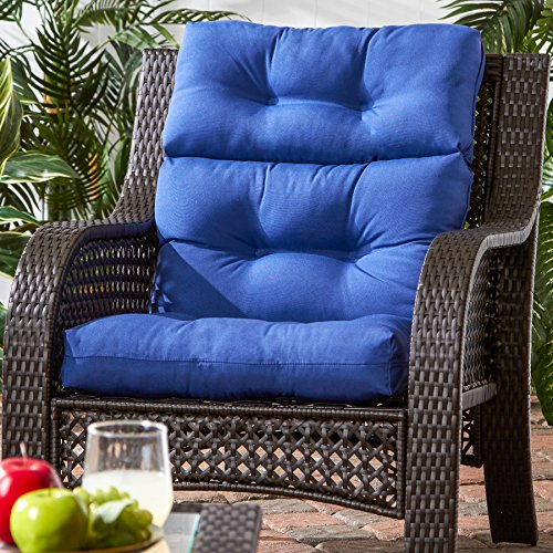 greendale home fashions indoor outdoor high back chair cushion marine blue new ebay. Black Bedroom Furniture Sets. Home Design Ideas