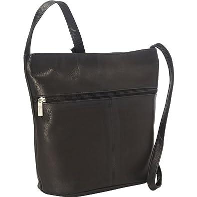 eb44c6e600 Royce Leather Vaquetta Shoulder Bag with Front Zipper (Black ...