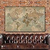 Push Pin Travel Map of World - Single Panel