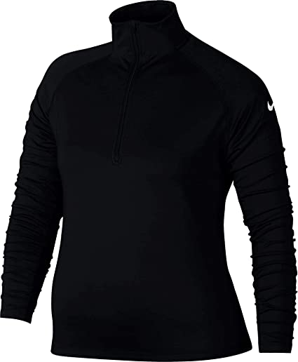 888661ac Amazon.com: Nike Women's Plus Size Pro Warm Half-Zip Training Top ...