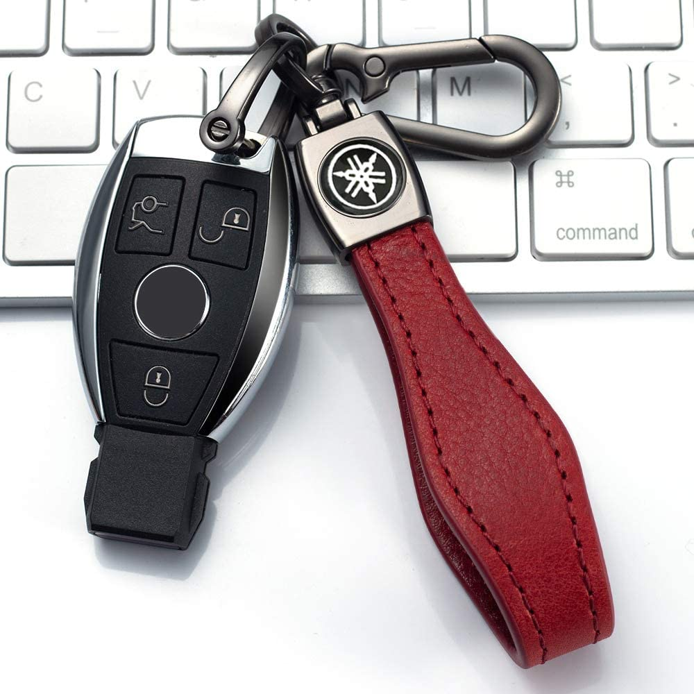 JIYUE Genuine Leather Car Logo Keychain Suit for Honda Key Chain Keyring Family Present for Man and Woman Elegant