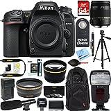 Nikon D7500 20.9MP DX-Format 4K Ultra HD Digital SLR Camera (Body Only) + Sigma 18-250mm Macro Lens Microphone & Accessory Bundle