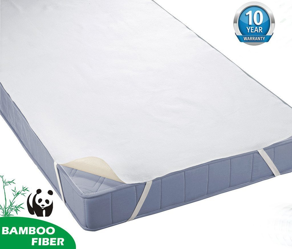 beige Tofern 100/% Waterproof Bamboo Mattress Cover Bed Bug Proof Anti-bacteria Super Soft Bed Sheet 90X190//200cm