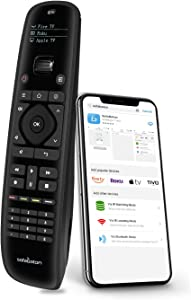SofaBaton U1 Universal Remote Control with Smartphone App Simple All in One Remote for Apple TV, Roku, Nvidia Shield, Samsung, Vizio, LG, Panasonic, Smart TVs Streaming Players Blu-ray DVD A/V Devices