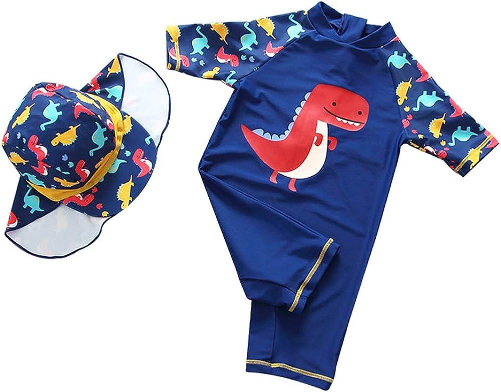 Happy Cherry Baby Boys Girls One//Two Piece Swimsuit UPF 50 Rash Guard Swimwear Set