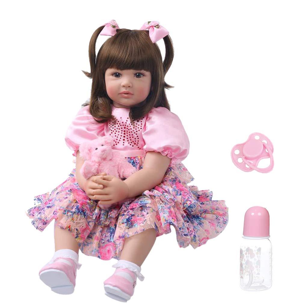 Realistische Reborn-Puppe aus weichem Silikon, Vinyl, für Neugeborene, Mädchen, Prinzessin, naturgetreues handgefertigtes Spielzeug für Kinder, Geburtstag, Weihnachten, Geschenk