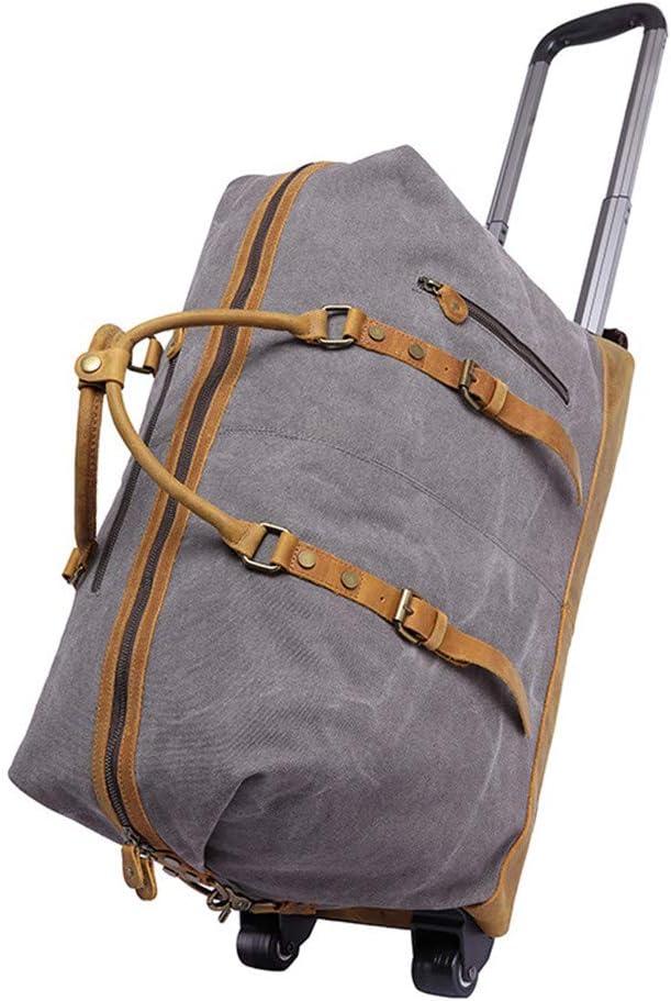 Yzibei Diseño de Moda Canvas, Leather Tie Rod, Traveling Bag, Bolsa de satén multifunción portátil para Hombres, Bolsa para Hombres. La practicidad y Alta