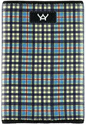 YaYwallet Mens, Credit Card Holder, Minimalist Wallet, Classic Plaid, Mini