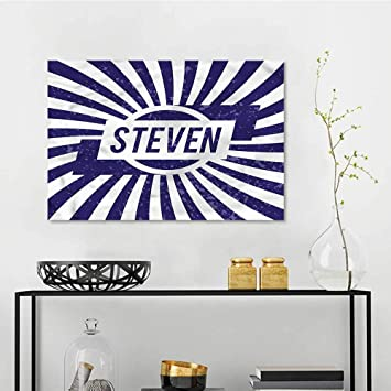 Amazon Com One1love Steven Original Oil Painting Name In Blue And